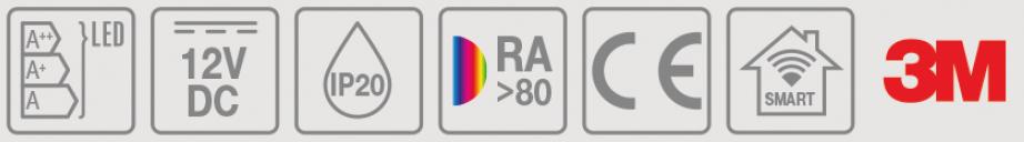 piktogram pasek LED